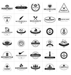 Set of vintage badges and labels vector image