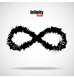 Sign infinity with brush vector image vector image