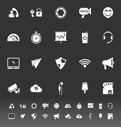 Smart phone screen icons on gray background vector image
