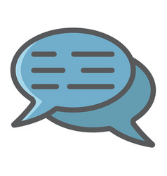 speech bubbles filled outline icon seo vector image