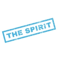 The spirit rubber stamp vector