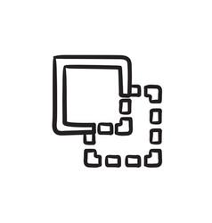 Trim sketch icon vector
