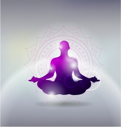 yoga gray background vector image vector image