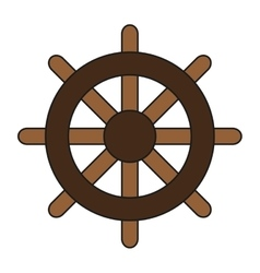 Boat rudder icon vector
