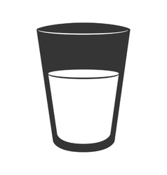 cup glass water isolated vector image