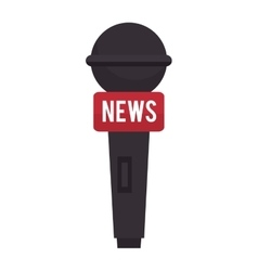 Microphone for news journalist vector