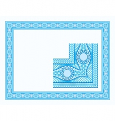 guilloche border for diploma vector image