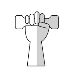 dumbbell icon image vector image