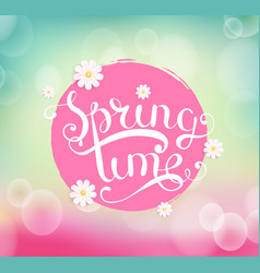 Spring time typographical background vector