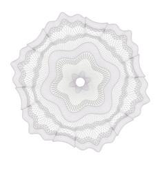 Watermark guilloche design for background vector
