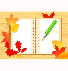 Autumn notepad vector