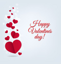Hearts postcard valentines day vector