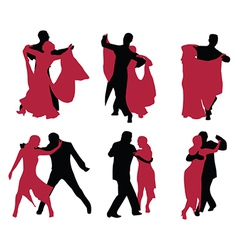 Couple ballroom dancing vector