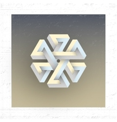 Unreal impossible geometric figure element vector