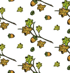 Oak pattern vector