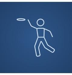 Frisbee line icon vector image