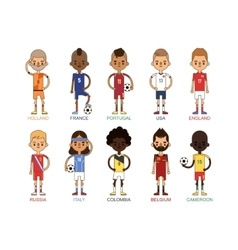 Football team sport soccer players group vector