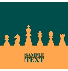 Chess background vector