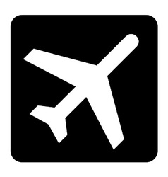 Aircraft fly sign vector