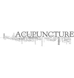 Acupuncture a benefit to the well individual text vector