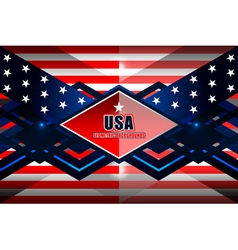 american geometric background vector image vector image