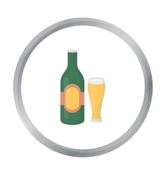 Beer icon in cartoon style isolated on white vector image vector image