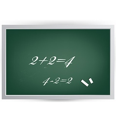 Black board with equations vector