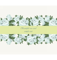 Blue roses vintage background vector
