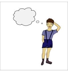 Boy doodle eps 10 vector