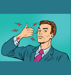 Businessman like hand gesture vector