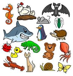 Cartoonish animals vector