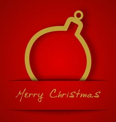 Christmas gold ball applique vector image