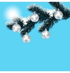 Christmas new year s card frosty winter day vector
