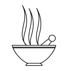 Clay in cup for spa icon outline style vector