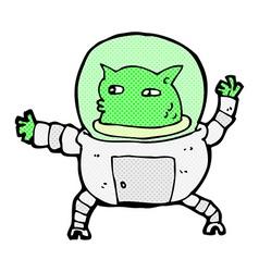 Comic cartoon alien vector