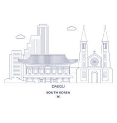 Daegu linear city skyline vector