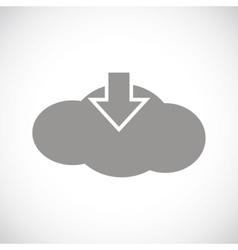 Download cloud black icon vector