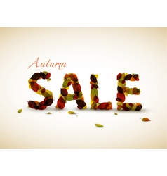 fall sale poster vector image vector image