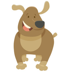 Funny dog pet cartoon vector