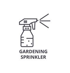 Gardening sprinkler line icon outline sign vector