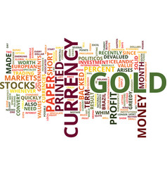 Gold a solid investment text background word vector
