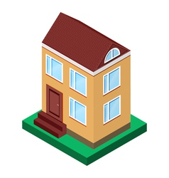 house with two floors with windows vector image vector image