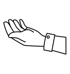 Human hand receiving icon vector