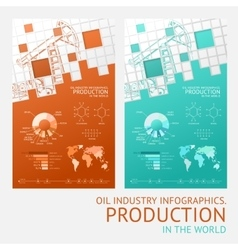 Oil infographic design vector image vector image
