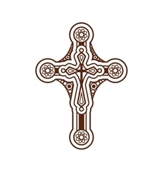 Ornate christian cross vector