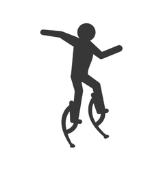 Pictogram jumping icon person doing action design vector