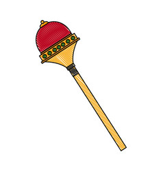 Royal scepter drawing superhero accessory vector