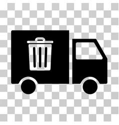 rubbish transport van icon vector image vector image