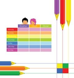 school equipment with kids vector image vector image