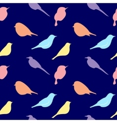 Seamless pattern with silhouette of birds vector image vector image